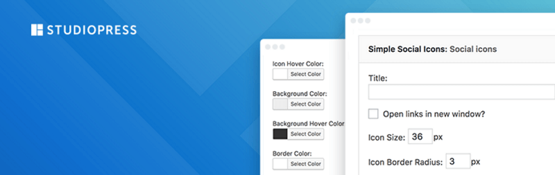 plugins para wordpress: Simple Social Icons