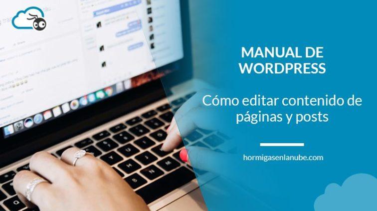 Editar contenido en wordpress