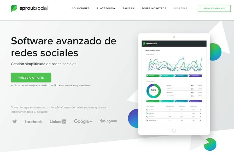 herramientas automatizar publicaciones en redes sociales sprout social