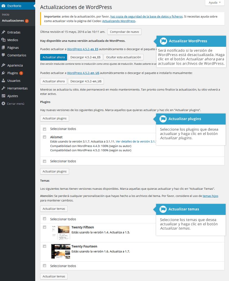 Herramientas y Ajustes de WordPress - Tutorial para principiantes
