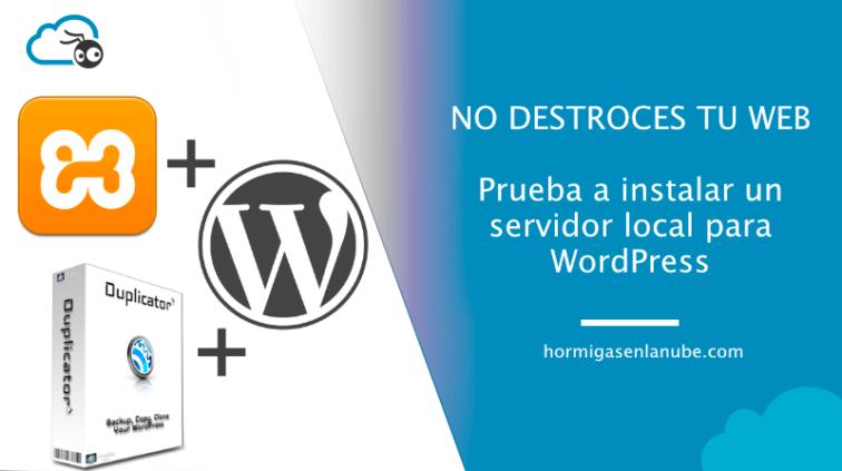 instalar un servidor local para WordPress