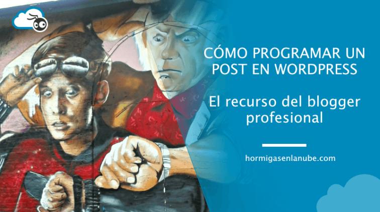 programar un post en wordpress