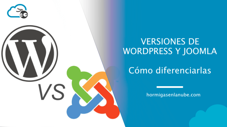 Versiones de Wordpress y Joomla